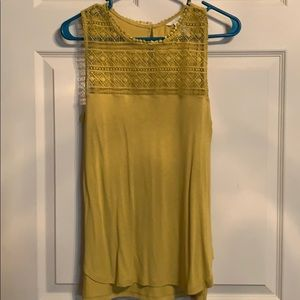 Mustard color HM sleeveless top